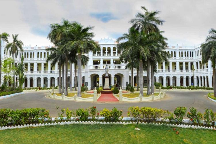 The sprawling campus of Loyola College Chennai