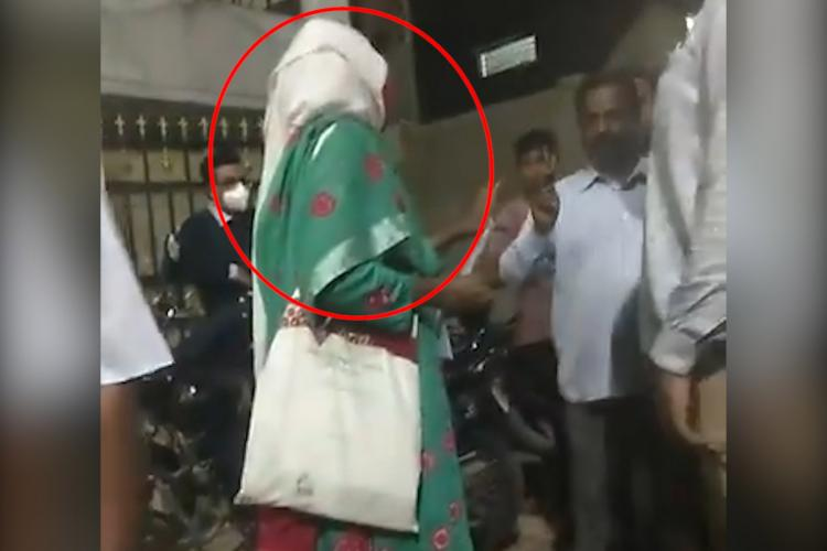Sreengrab from the video in which Dr Lubna Sarwath was threatened
