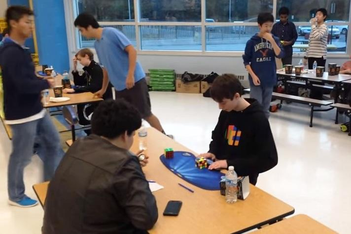 Watch This kid solves the Rubiks Cube in under 5 seconds