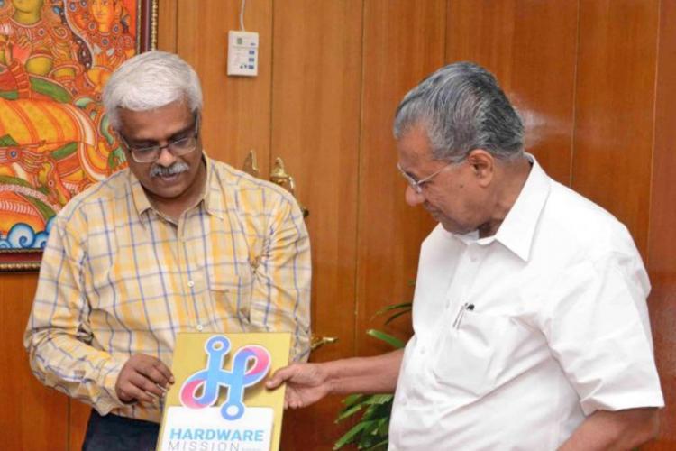 Kerala CM Pinarayi Vijayan with Sivasankar IAS who was IT Secretary of Kerala and is accused of being close to Swapna Suresh