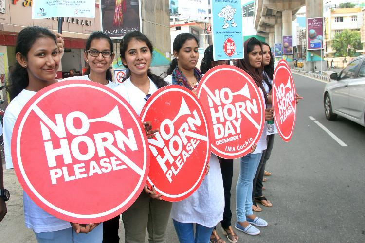 In a first for Kerala Kochis MG Road declared no-horn zone