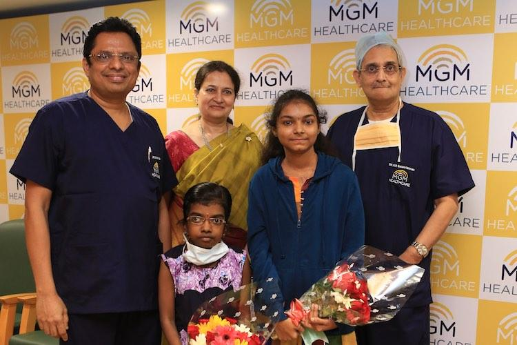 Successful heart transplantation surgeries performed on two young girls by MGM Healthcare free of charge
