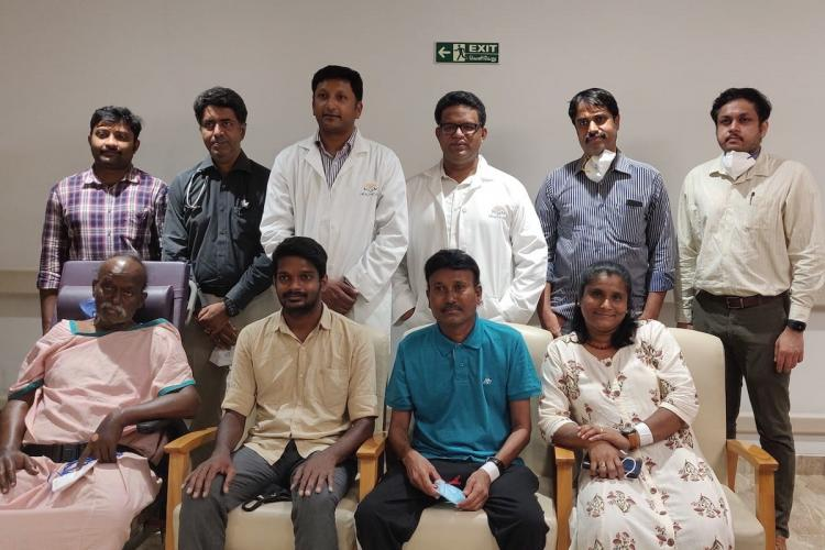 Patients and doctors after swap liver transplants