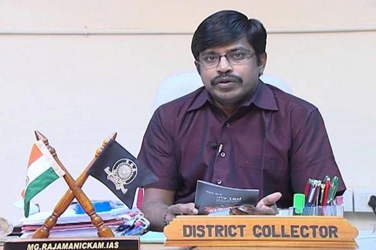 MG Rajamanickam IAS at office while he was Ernakulam collector