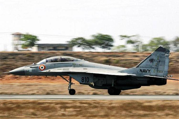 Minor fire after fuel tank falls off from MiG-29 during takeoff in Vizag