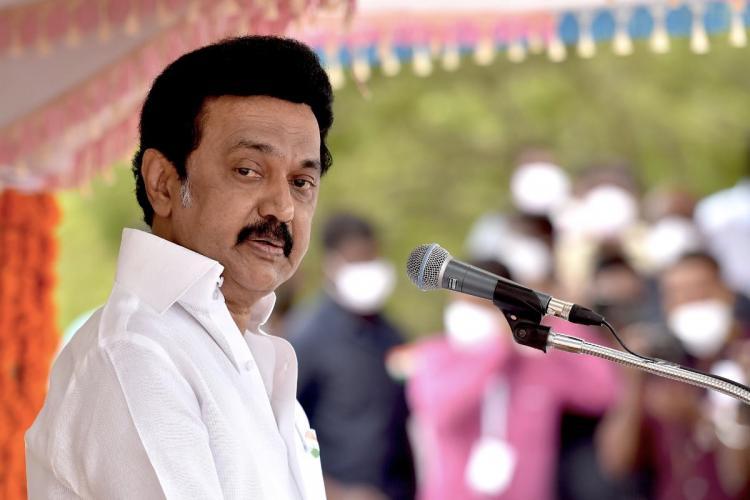 Tamil Nadu Chief Minister MK Stalin addressing an event