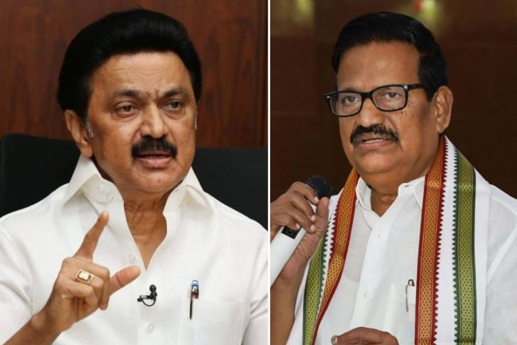 DMK Chief MK Stalin and Tamil Nadu Congress Chief KS Alagiri