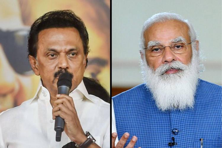 A collage of MK Stalin and PM Narendra Modi