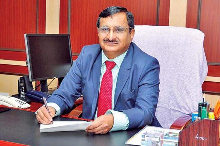 Anna University Vice Chancellor MK Surappa seated at the Pattukottai college of Engineering