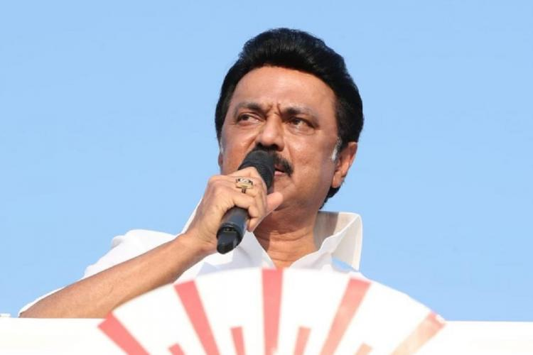 DMK chief MK Stalin during campaigning