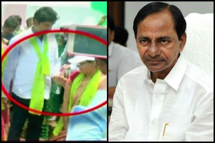 MLA Misbehaves With Collector Infront of KCR!
