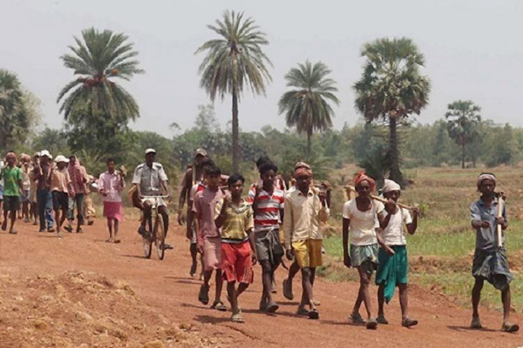 Image of workers under Mahatma Gandhi National Rural Employment Guarantee Scheme