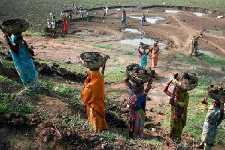 Rural women working in the field