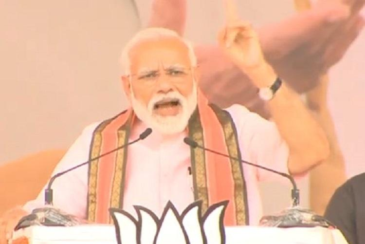 Congress-JDS mission is 20 commission PM Modi taunts in Ktaka rally