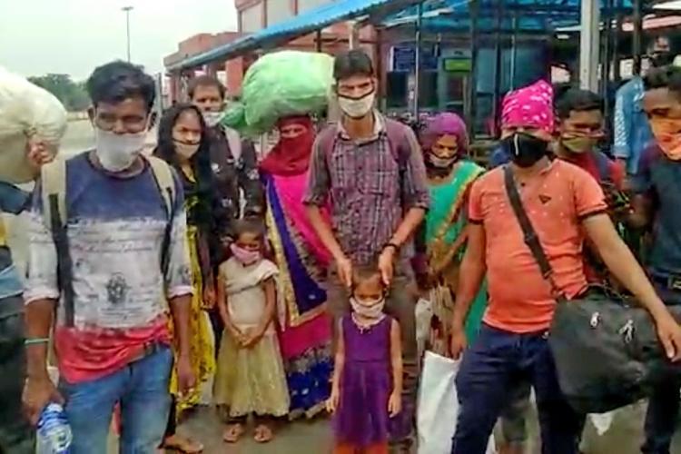 Madhya Pradesh-bound migrant families from Bengaluru stranded in Gorakhpur