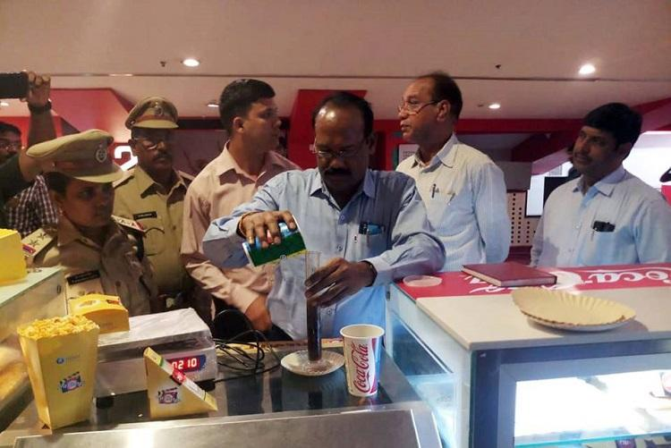 For violating MRP rules 54 cases booked against 18 theatres in Hyderabad