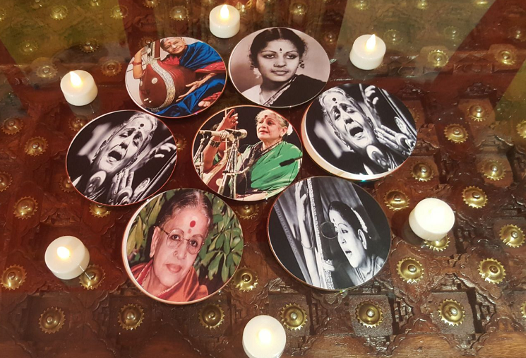 In pictures Indian womans Golu in Dubai is a tribute to MS Subbulakshmi