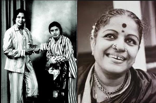 When singer MS Subbulakshmi and dancer Balasaraswati were captured holding a cigarette