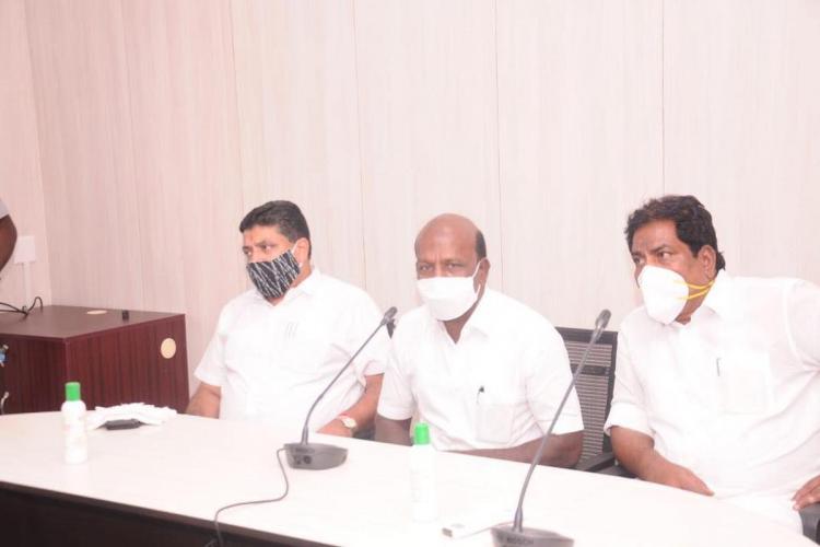TN Health Minister Ma Subramanian at a press meet