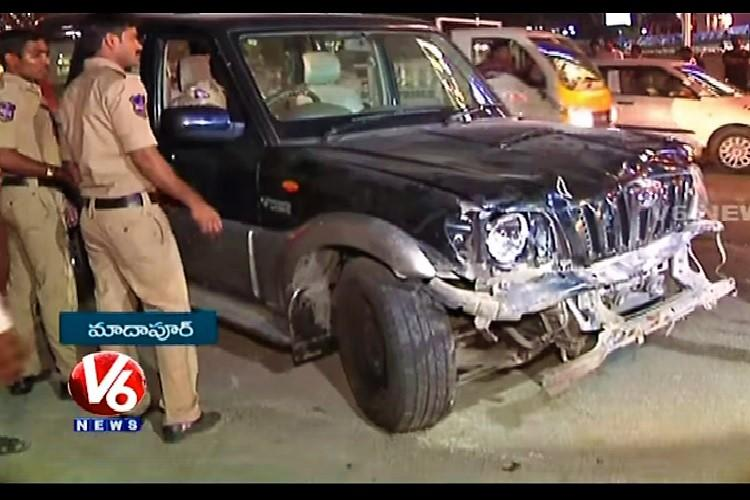 One killed four injured as SUV driver loses control in Hyderabads Madhapur area