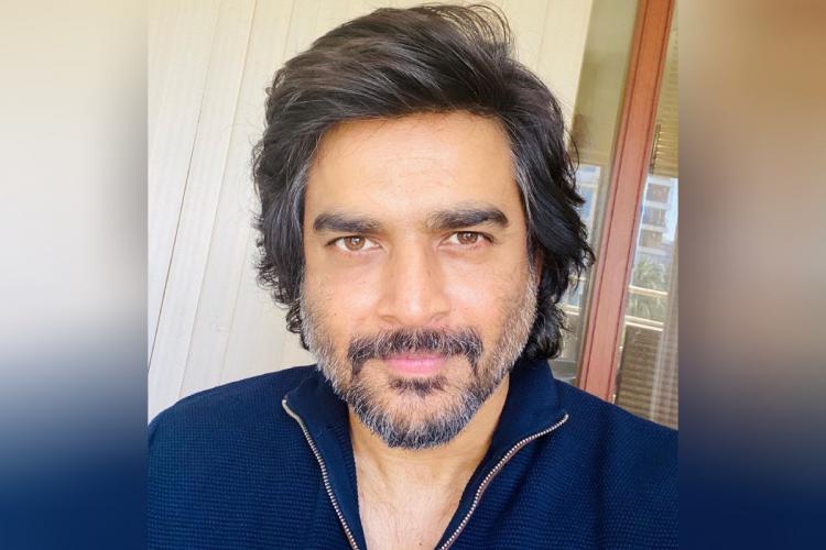 Actor Madhavan in a blue shirt