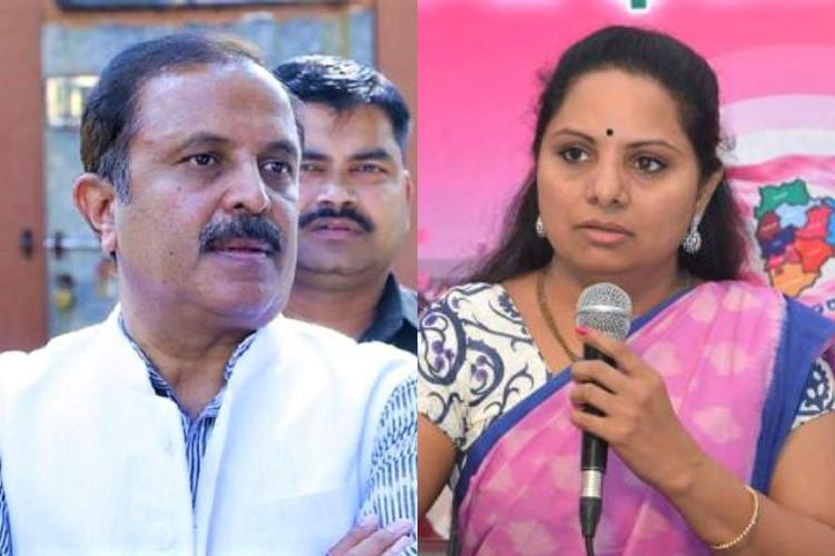 TRS MP Kavitha sends legal notice to Congs Madhu Yaskhi demands apology