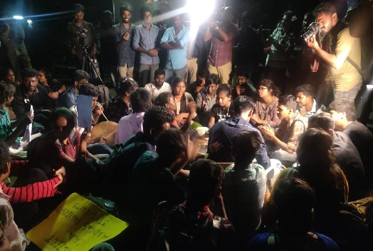 Madras University CAA protest Students wont give up till those detained are released