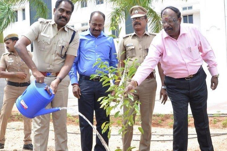In Madurai top cop plants 24 varieties of trees mentioned in epic Silapathikaram