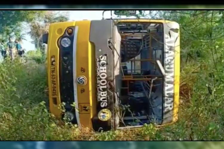 8-year-old TN boy loses arm after school van tumbles off road in Madurai