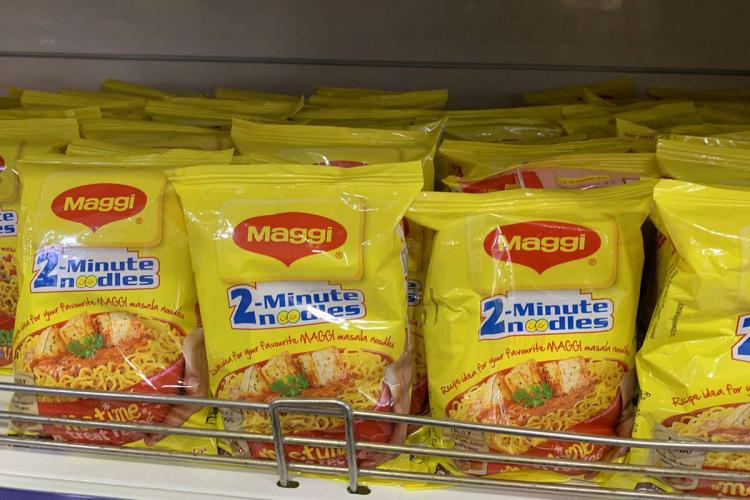 Nestle Maggi in the shelf of a Ratnadeep Supermarket in Hyderabad