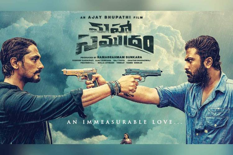Siddharth and Sharwanand in the poster of Maha Samudram