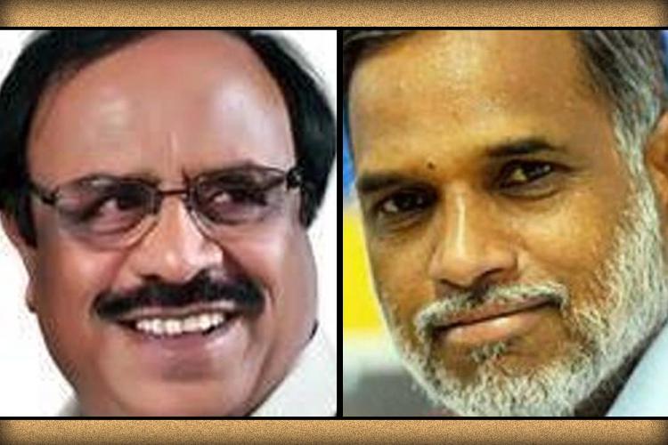 A collage of Mahadeva Prakash and MB Maramkal