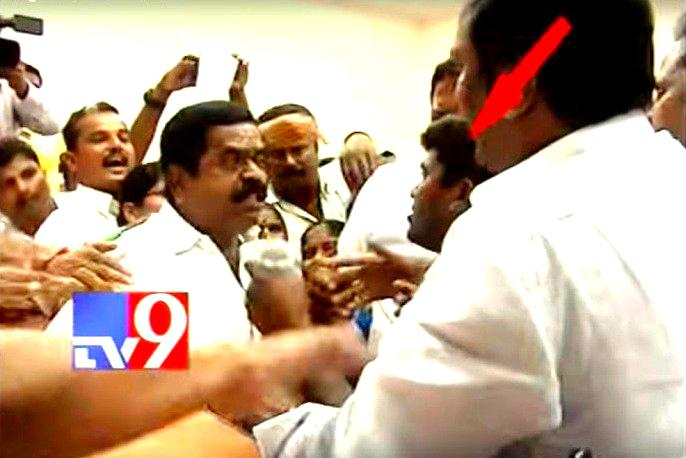 Slapfest Watch Congress and TRS MLAs come to blows