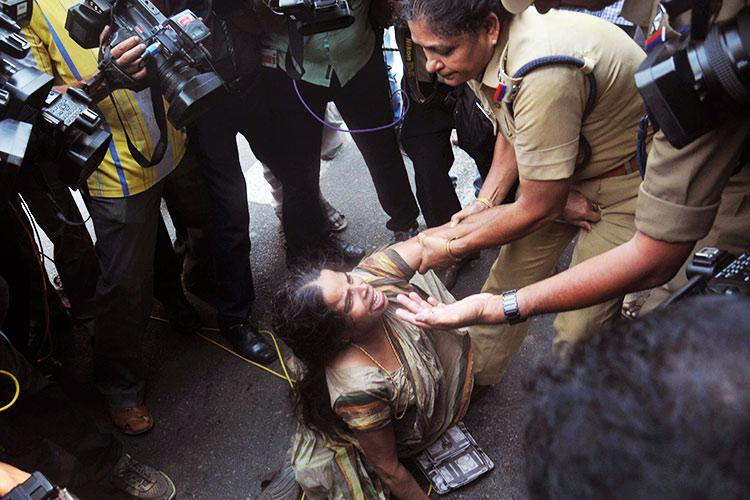 How can cops be brutal to a mother seeking justice for son Outrage over Jishnus family arrest