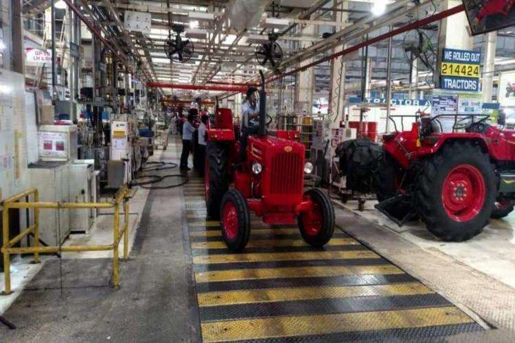 Mahindra K2 tractor manufacturing plant at Zajeerabad of Telangana