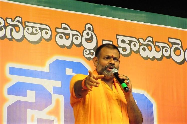 Ground report In Kamareddy Paripoornananda bats for BJP claims threat to Hindus