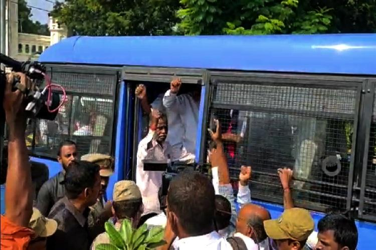 TSRTC strike Hyderabad police detain union leaders ahead of their protests