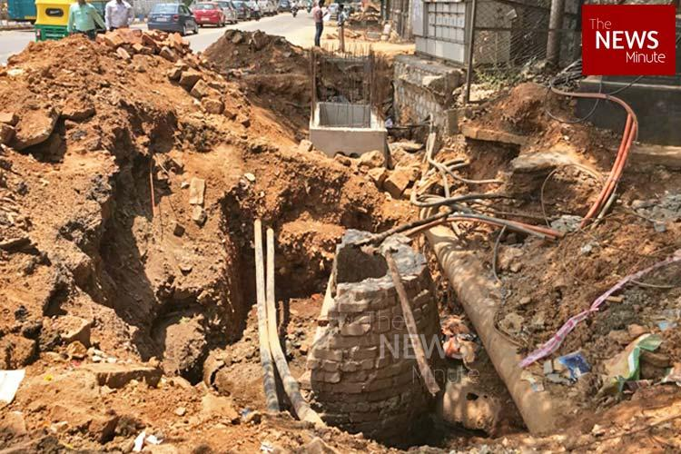 Church Street 20 Road projects in Bengaluru delayed due to messed up pipeline system