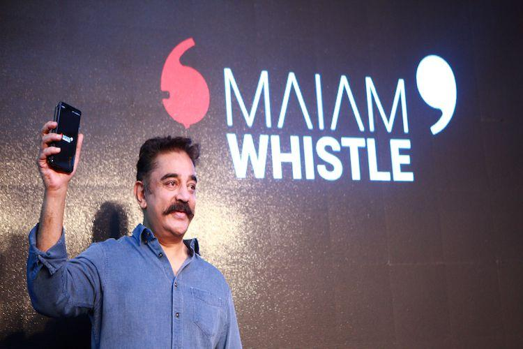 After much-delay Kamal Haasan launches Maiam Whistle app