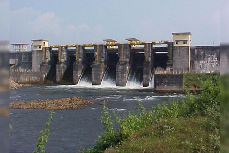 Three shutters of Malankara dam in Idukki district of Kerala opened