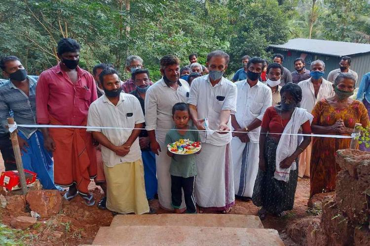 Malappuram temple pathway donated by a mosque
