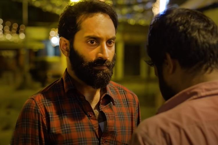 A screengrab of Fahad Faasil from the movie