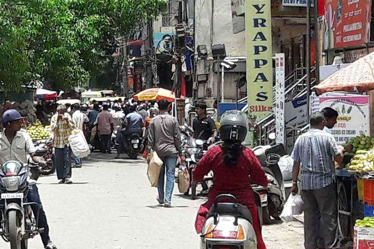 A busy lane in Malleswaram