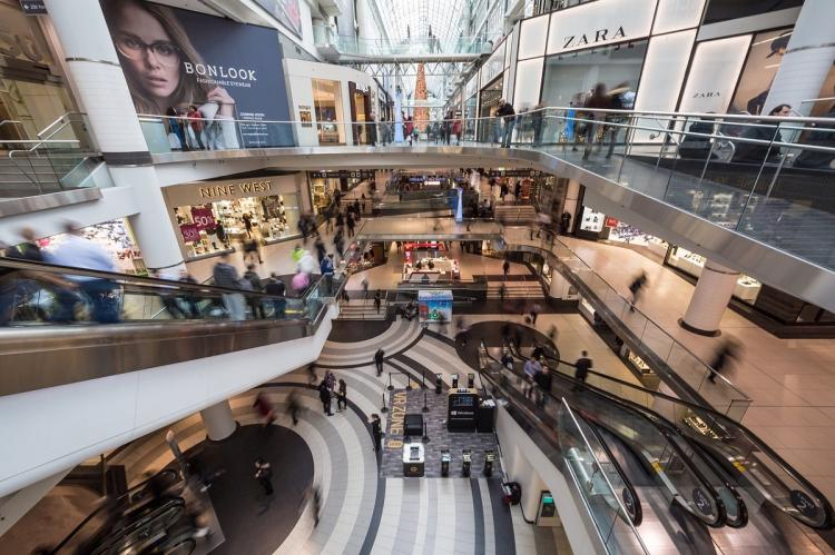 A representative image of a shopping mall