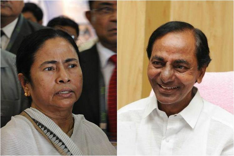 KCR will meet Mamata Banerjee today over new front