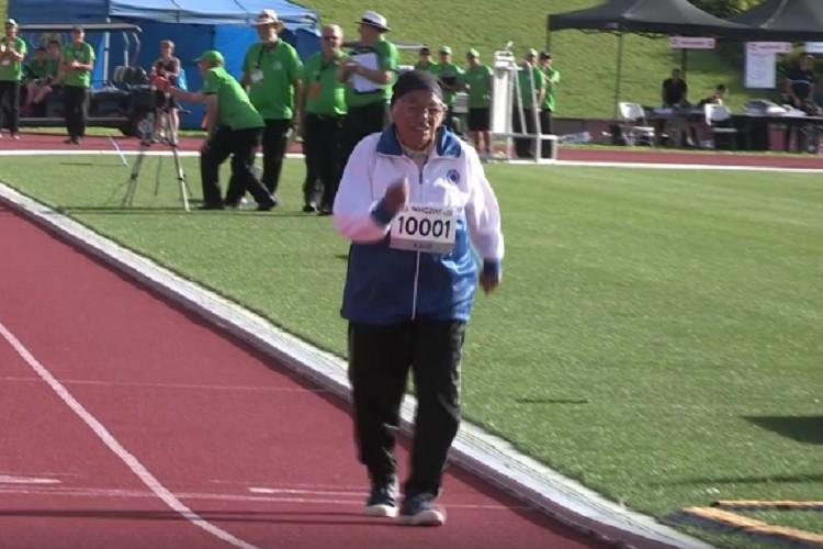 101-year-old Indian woman wins gold at the 100m race in World Masters Games wins hearts