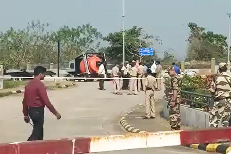 BAG WITH EXPLOSIVE SUBSTANCE FOUND AT MANGALURU AIRPORT