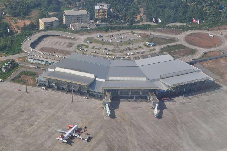Aerial video of Mangaluru airport