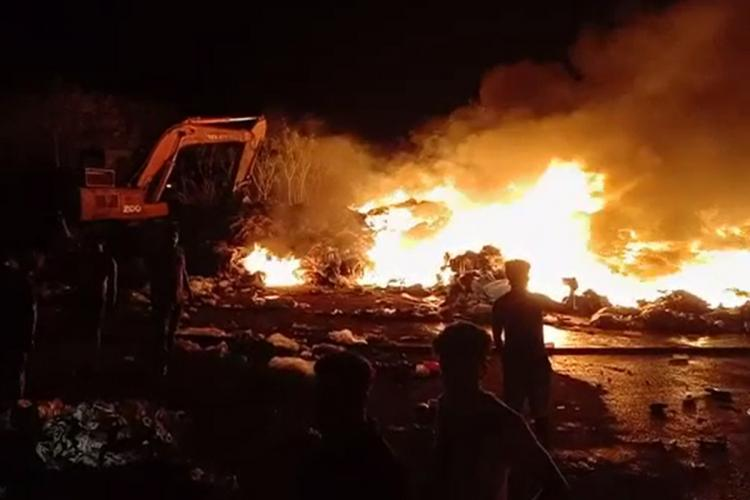 Fire breaks out at Mangaluru Pachanady garbage