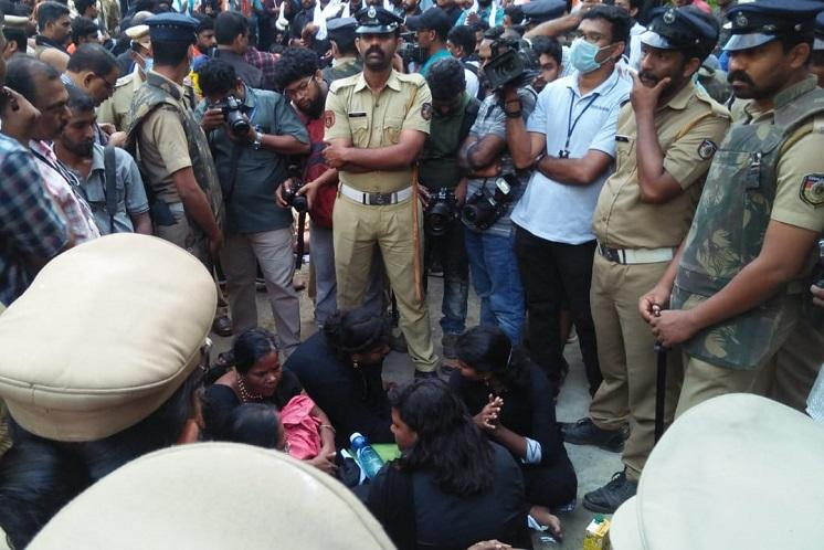 Sabarimala row How 11 women from TN evaded protesters by turning up in Pamba